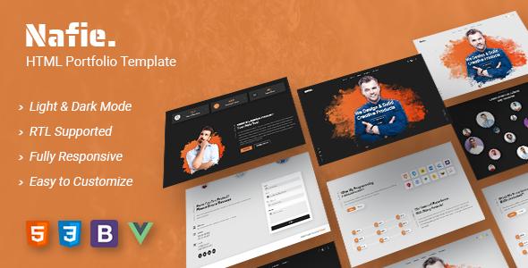 Nafie - HTML Portfolio Template TFx SiteTemplates