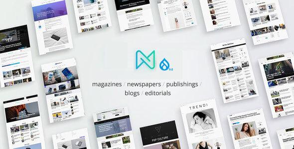 Newspaper – Optimized Drupal 9 RTL Magazine theme TFx