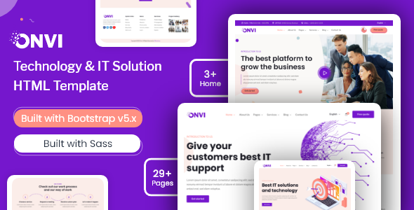 Onvi – IT Solutions amp Services HTML Template TFx