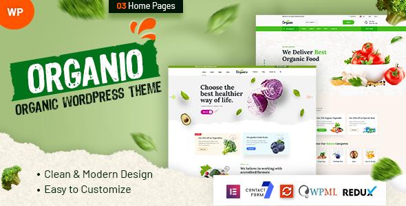 Organio - Organic Food Store WordPress TFx