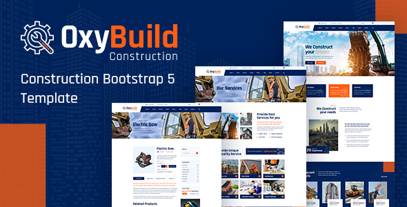 OxyBuild - Construction Bootstrap 5 Template TFx