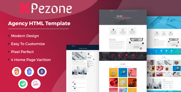 Pezone- Creative Agency HTML Template TFx