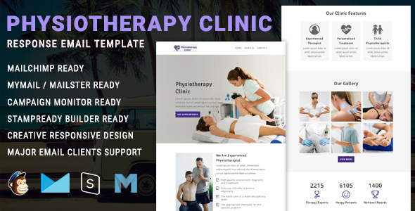Physiotherapy - Responsive Email Newsletter Template TFx