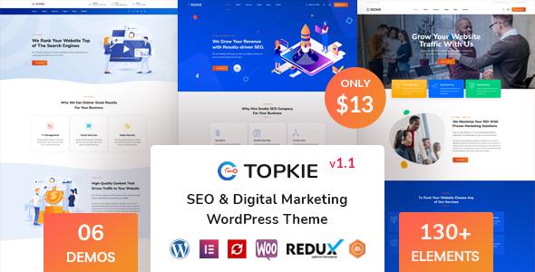Topkie - SEO Marketing WordPress Theme TFx