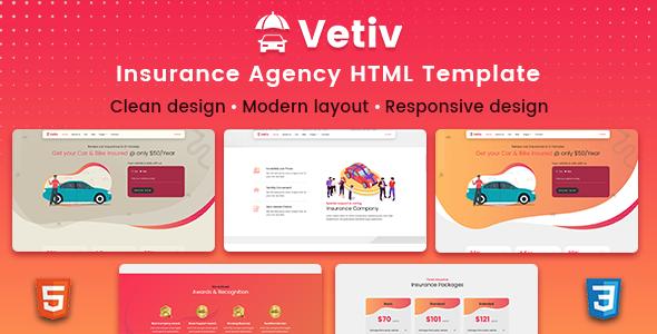 Vetiv - Insurance Agency HTML Template TFx
