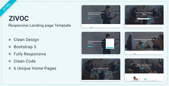Zivoc - Bootstrap 5 Landing Page Template TFx