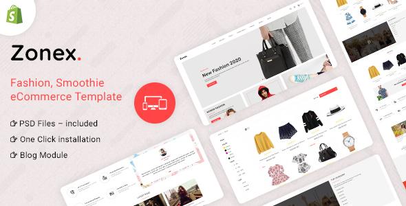 Zonex Multipurpose E-commerce Shopify Template TFx