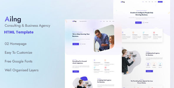Ailng Creative Consulting amp Business Agency HTML Template TFx