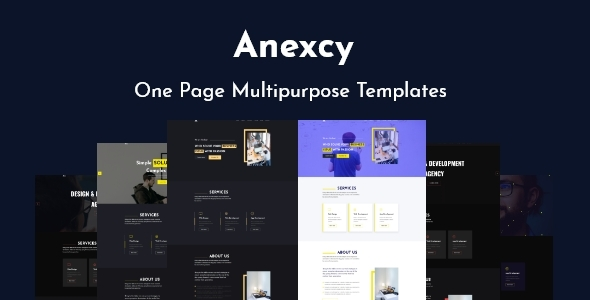 Anexcy - Multipurpose HTML5 Onepage Template TFx