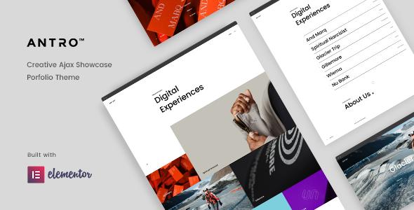 Antro - Creative Portfolio Theme TFx WordPress