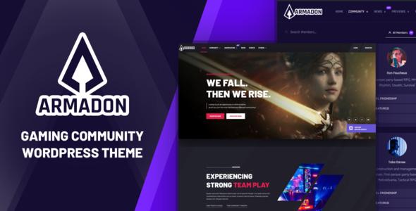 Armadon - Gaming Community WordPress Theme TFx
