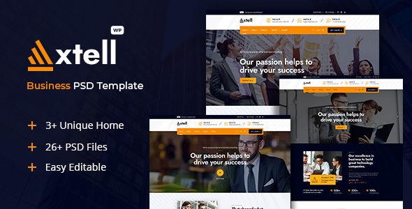 Axtell - Business PSD Template TFx