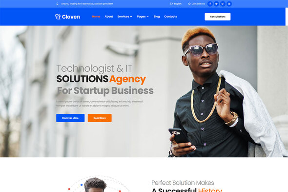 Cloven - IT Solutions ampServices Company Elementor Template Kit TFx