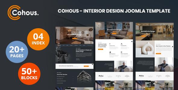 Cohous – Interior Design Helix Ultimate Joomla Template TFx