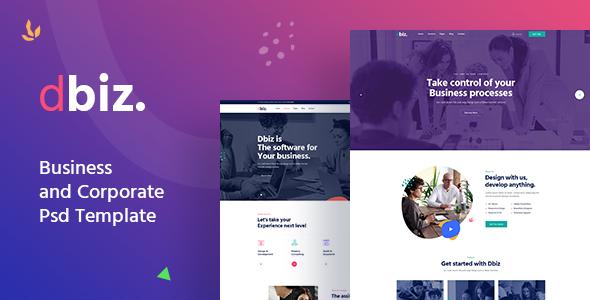 Dbiz - Modern Business and Corporate Psd Template TFx