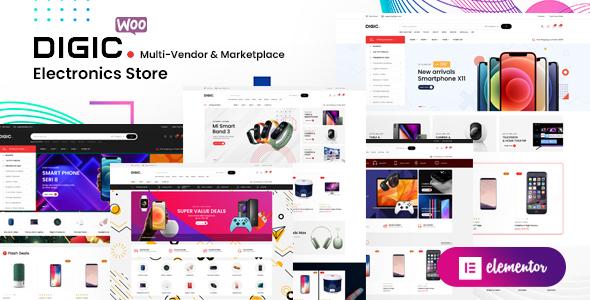 Digic  Electronics Store WooCommerce Theme TFx
