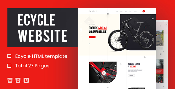 ECycle – Creative HTML Template TFx SiteTemplates