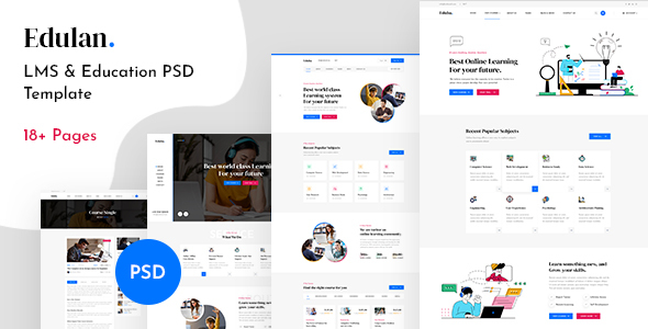 Eduba – LMS amp Education PSD Template TFx