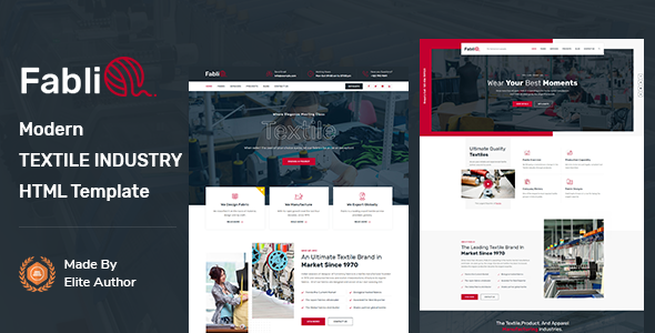 Fablio - Textile Industry HTML5 Template TFx