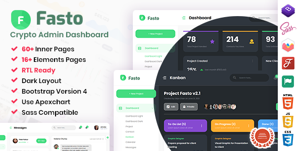 Fasto – Saas Admin Dashboard Template TFx
