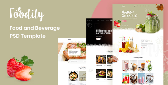 Foodily - Food and Beverage Shop PSD Template TFx