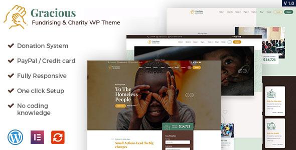 Gracious - Charity and Donation WordPress Theme TFx