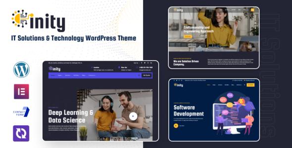 Inity - Technology Solutions WordPress Theme TFx