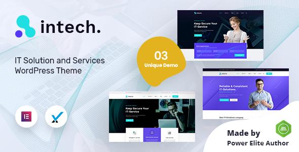 Intech – IT Solutions Company WordPress Theme TFx