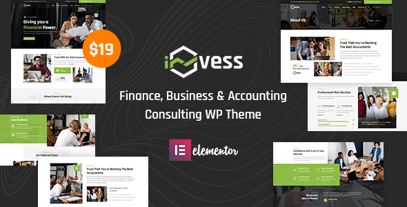 Invess - Accounting amp Finance Consulting WordPress Theme TFx