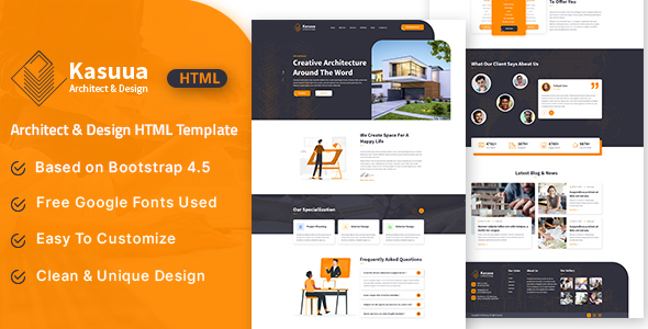 Kasuua  Architect amp Design HTML Template TFx