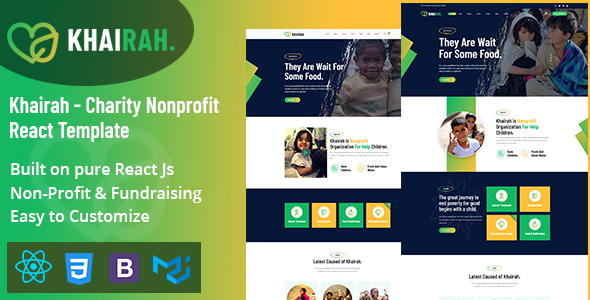 Khairah – Charity Nonprofit React Template TFx