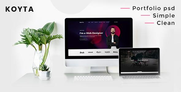 Koyta  Personal Portfolio PSD Template TFx