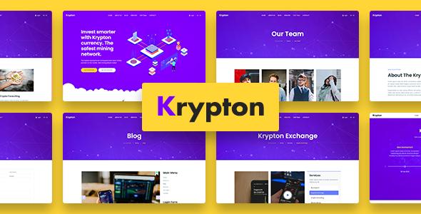 Krypton – Bitcoin Crypto Currency Joomla Template TFx