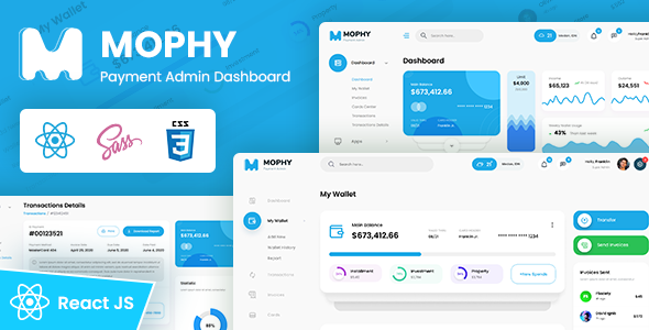 MOPHY - Payment React Admin Dashboard Template TFx