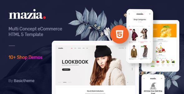 Mazia - Clean Minimal eCommerce HTML5 Template TFx