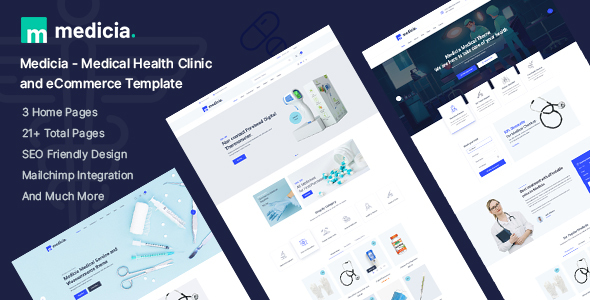 Medicia - Medical Health Clinic and eCommerce HTML5 Template TFx