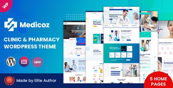 Medicoz - Clinic amp Pharmacy WordPress Theme TFx