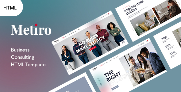 Metiro - Business Consulting Bootstrap5 Template TFx