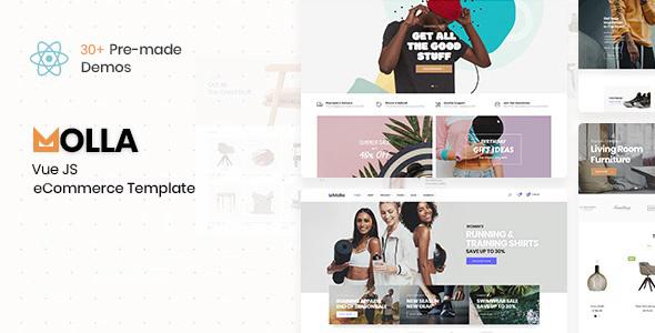 Molla - VueJS eCommerce Template TFx SiteTemplates