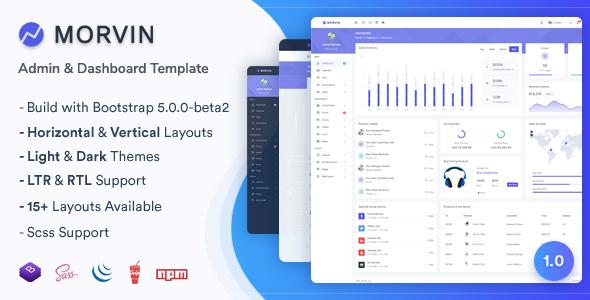Morvin - Admin amp Dashboard Template TFx