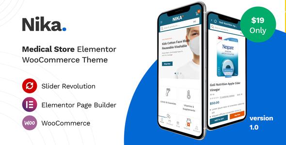 Nika - Medical Elementor WooCommerce Theme TFx