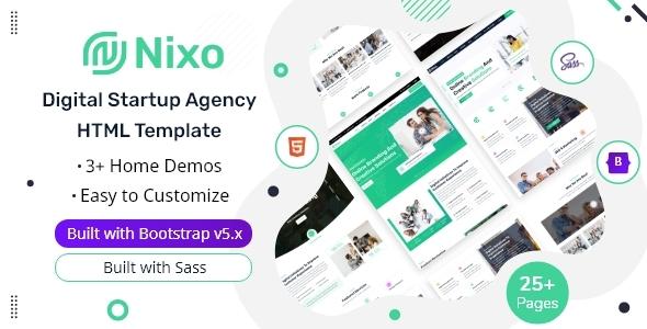 Nixo – Digital Startup Agency HTML Template TFx