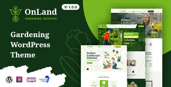 OnLand - Gardening WordPress Theme TFx