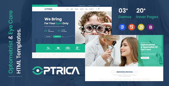 Optrica - Eyecare amp Optometrist HTML5 Template TFx