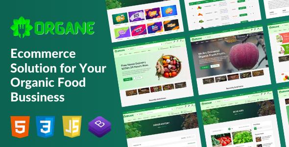Organe - Organic Food HTML Template TFx