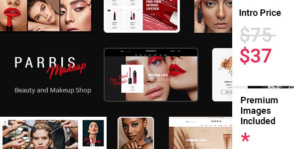Parris - Beauty and Makeup Shop TFx WordPress
