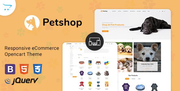 Pestore - Responsive Food Pet Store OpenCart 3 Theme TFx