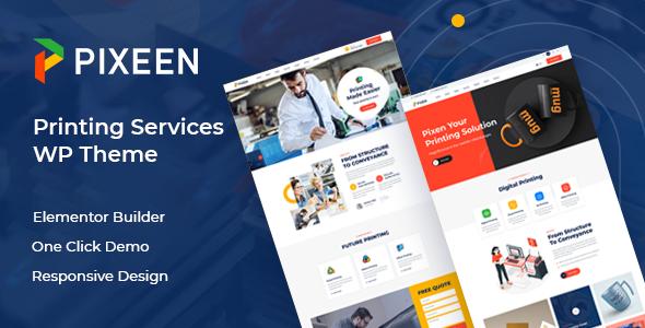 Pixeen - Printing Services Company WordPress Theme TFx