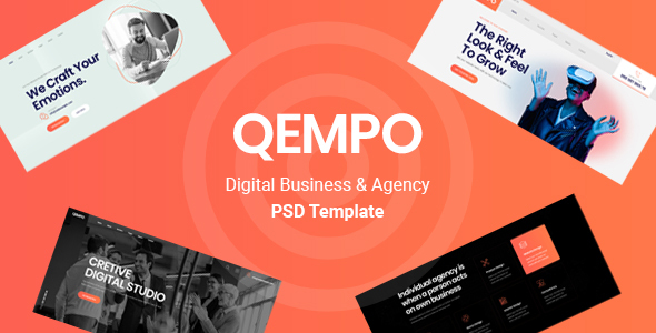Qempo - Digital Agency PSD Template TFx
