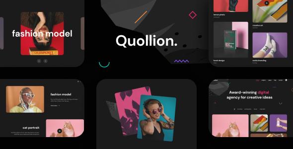 Quollion - Colorful Agency amp Portfolio Figma Template TFx